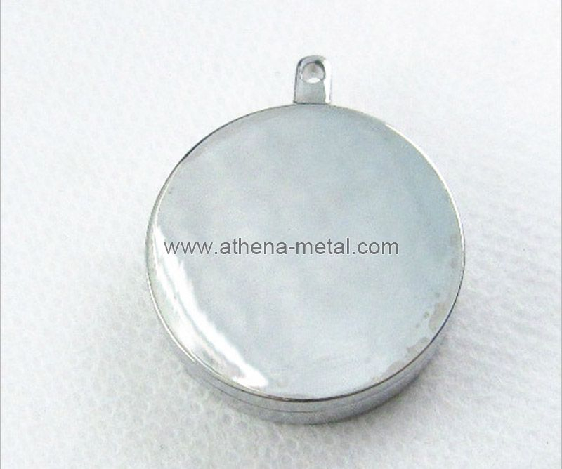 Round Metal Solid Perfume Container