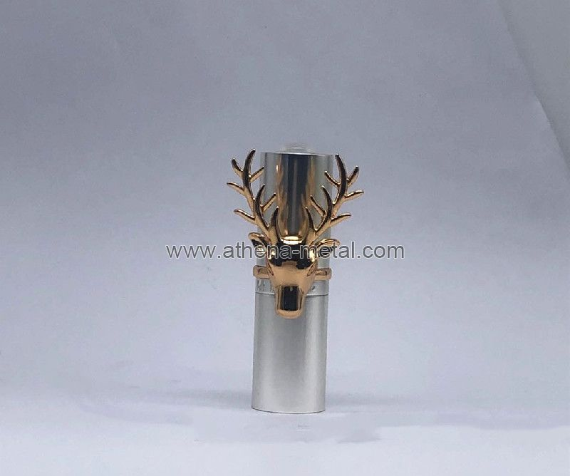 Novelty Lipstick case with Ring Decoration