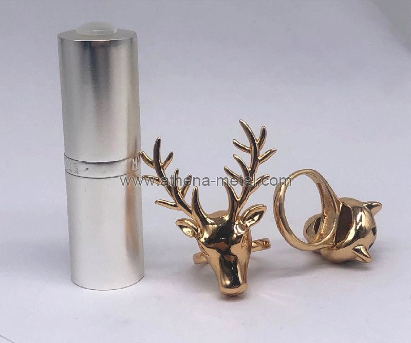 Novelty Lipstick Shell with Jewelry Ring decoration